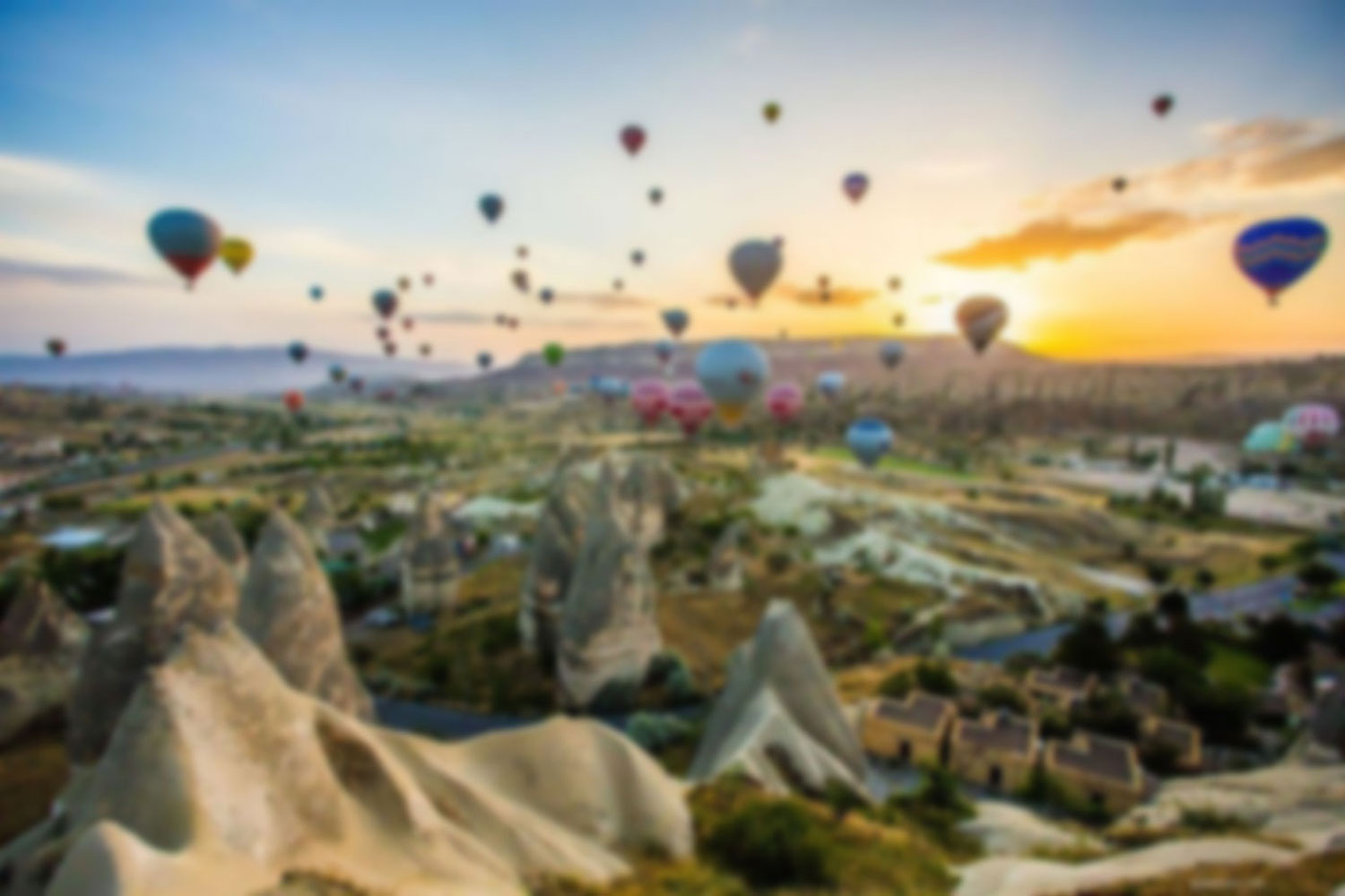 image of hot air balloons for background of sky soleil vo site